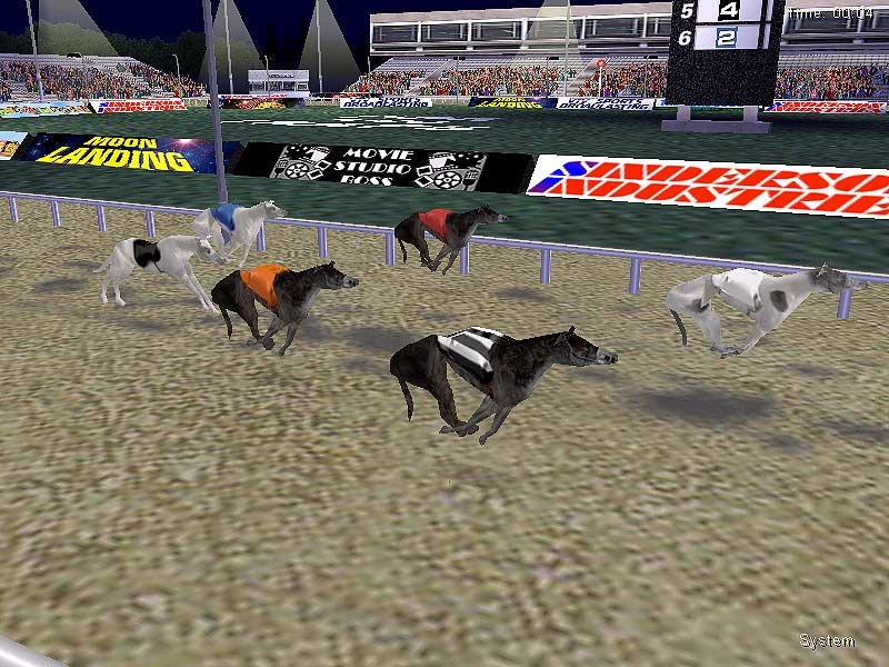 3D greyhound racing! Buy, train, bet and race your dogs to success!